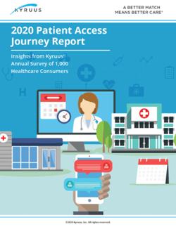 2020 Patient Access Journey Report-1-1