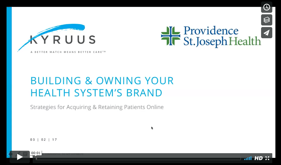Building & Owning Your Health System's Brand - watch webinar