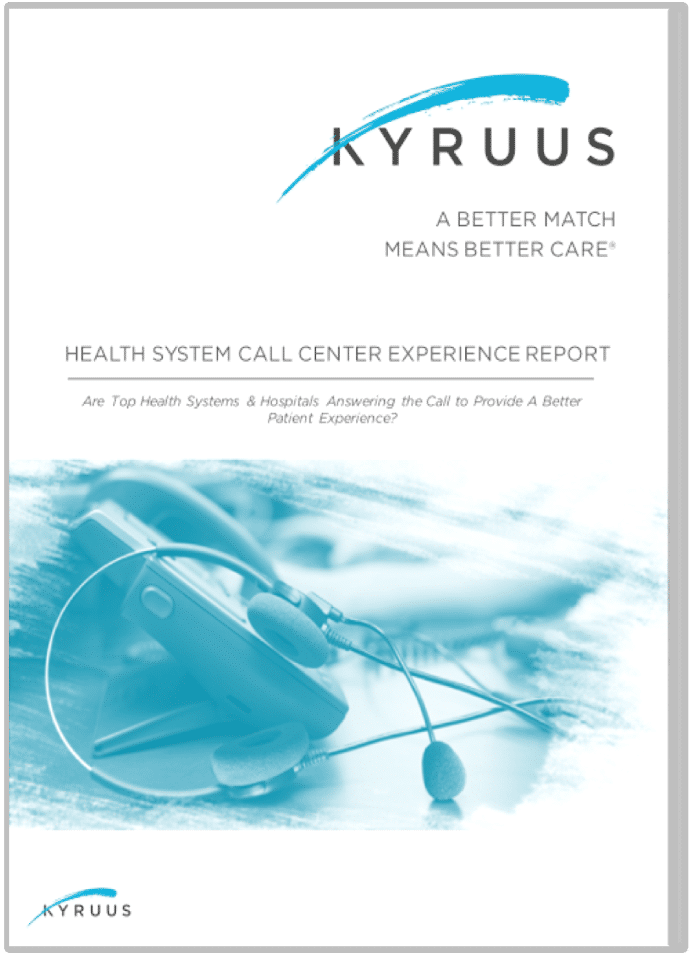 Health System Call Center Experience Report