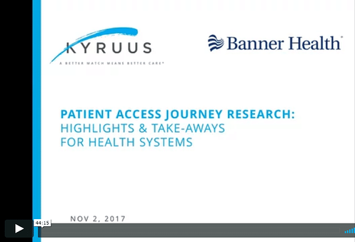 Patient Access Journey Research Webinar