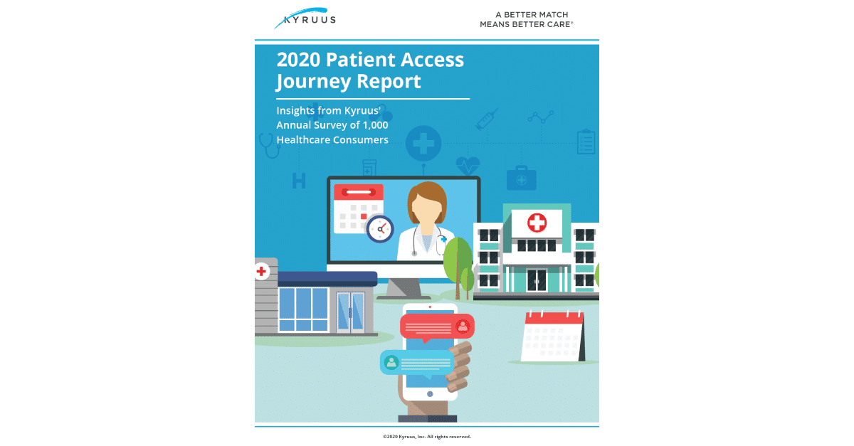 2020 Patient Access Journey Report Cover Image