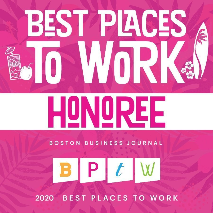 Boston Business Journal Best Places to Work Award 2020